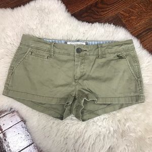 Abercrombie & Fitch Olive Green Shorts Stretch 2
